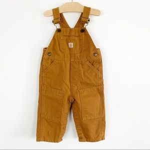 Carhartt infant boys overalls bib brown canvas
